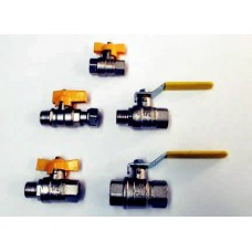 GAS BALL VALVES, WITH BSPT TAPERED THREADS, BRASS, MADE IN ITALY  (11)