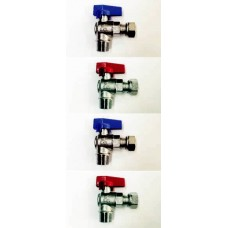 ANGLED BALL VALVES, BRASS, M/M, M/F, M/F SWIVEL, F/F SWIVEL, BSP THREADS, MADE IN ITALY (17)