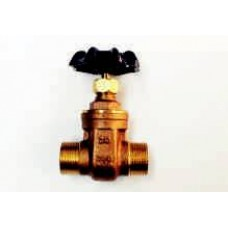 GATE VALVES, MALE/MALE, BRASS, HEAVY PATTERN, 200LB, BSP THREADS, MADE IN TAIWAN (2)