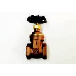 "GATE VALVE, FEMALE/FEMALE, BRASS, 1/2"" (15mm), 200LB"