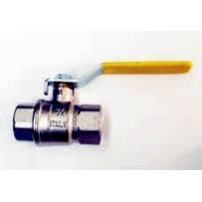 GAS BALL VALVES, BRASS, FEMALE/FEMALE WITH LEVER HANDLE, BSPT TAPERED THREADS, MADE IN ITALY (3)