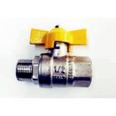GAS BALL VALVES, BRASS, MALE/FEMALE, WITH TEE HANDLE, BSPT TAPERED THREADS, MADE IN ITALY (0)