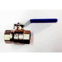 "BALL VALVE, FEMALE/FEMALE, 1/2"" (15MM), WITH BLUE LEVER HANDLE"