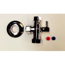 DISHWASHER TAPS, THE VALVE WITH THE TWO OUTLETS AND THE ANGLED BALL VALVES C/W FILTERS (10)