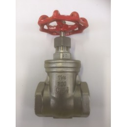 "STAINLESS STEEL GATE VALVES, GRADE SS316, FEMALE/FEMALE, BSPT, SIZE 1 1/4"", 32mm"