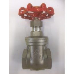 "STAINLESS STEEL GATE VALVES, GRADE SS316, FEMALE/FEMALE, BSPT, SIZE 1 1/2"", 40mm"