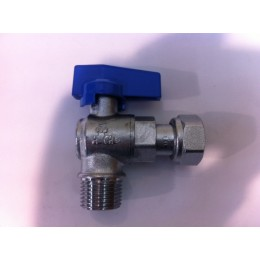 "UTILITY TAP, MALE/FEMALE SWIVEL, 3/4"" X 3/4"", BLUE HANDLE"